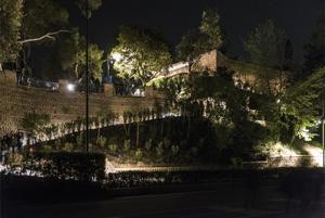 Das Licht des Mondes für den Colle dell'Infinito