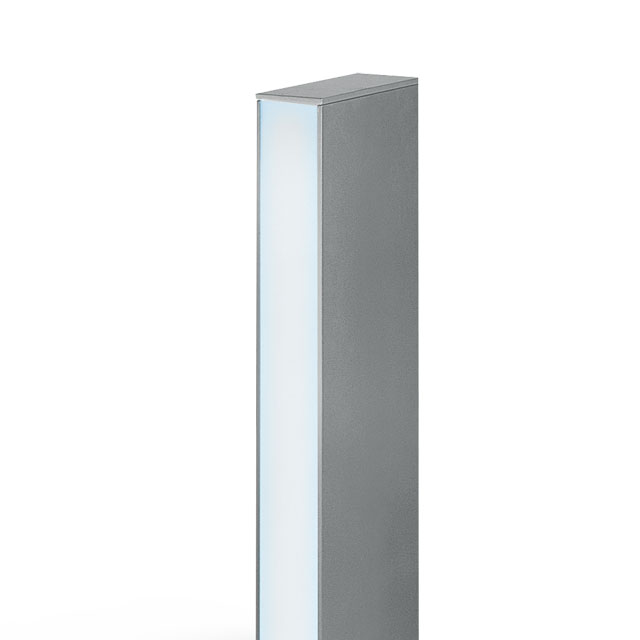 Pencil bollard rectangular