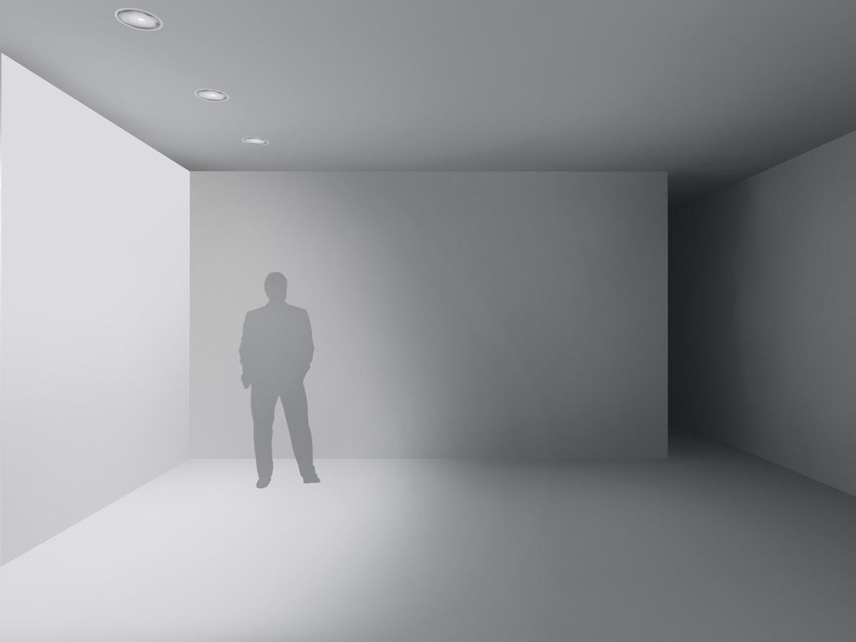 Beleuchtung von vertikalen Flächen im Innenbereich