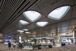 Der Terminal 4 des Flughafens Changi in Singapur