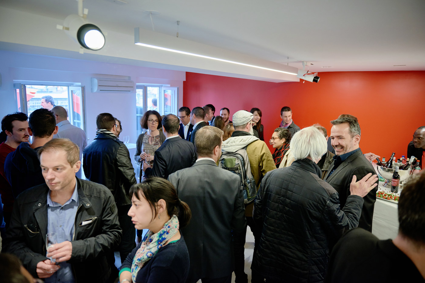 Our new office in Lyon was packed during the inauguration